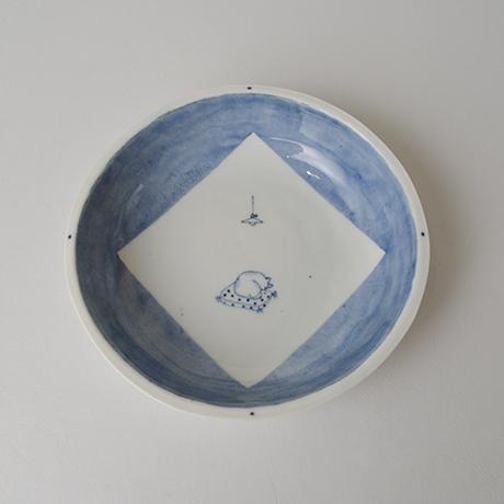 「No.57 丸深皿 五 / A set of 5 round plates, Sometsuke」の写真 その5