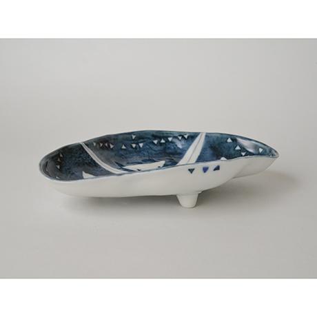 「No.59 菱形足付皿 五 / A set of 5 plates, Rhombus shape, Sometsuke」の写真 その4