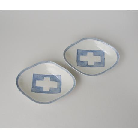 「No.60 菱形皿 五 / A set of 5 plates, Rhombus shape, Sometsuke」の写真 その1