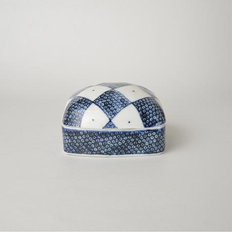 「No.7 陶箱 小 / Ornamental box, Sometsuke」の写真 その1