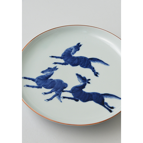「No.7 飛馬文皿 七寸 / Dish with horse design, Sometsuke」の写真 その2