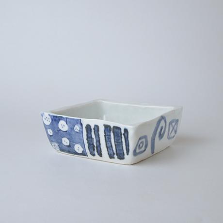 「No.73-1 正角平小鉢 / Square bowl, Sometsuke」の写真 その1