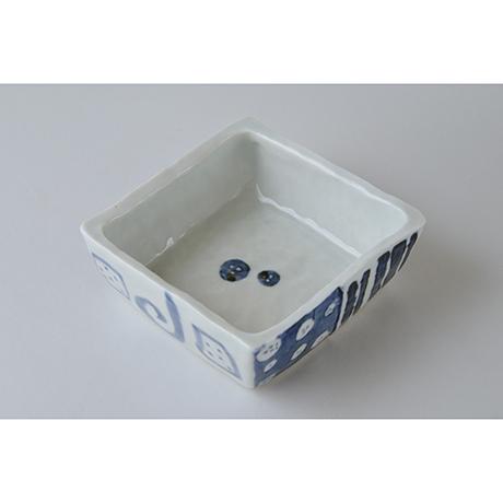 「No.73-1 正角平小鉢 / Square bowl, Sometsuke」の写真 その2