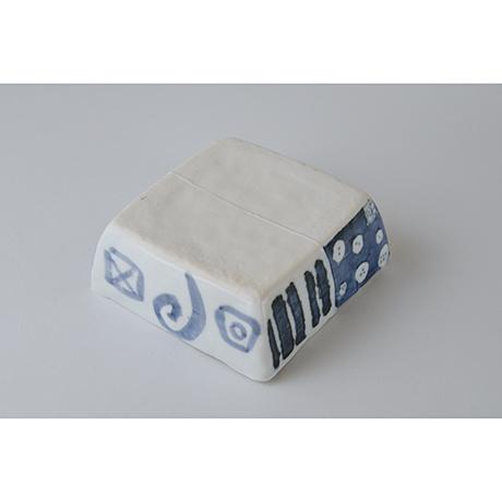 「No.73-1 正角平小鉢 / Square bowl, Sometsuke」の写真 その3