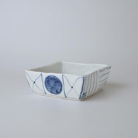 「No.73-2 正角平小鉢 / Square bowl, Sometsuke」の写真 その1