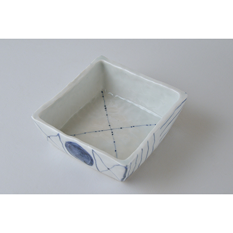 「No.73-2 正角平小鉢 / Square bowl, Sometsuke」の写真 その2