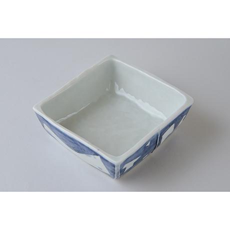 「No.73-3 正角平小鉢 / Square bowl, Sometsuke」の写真 その2