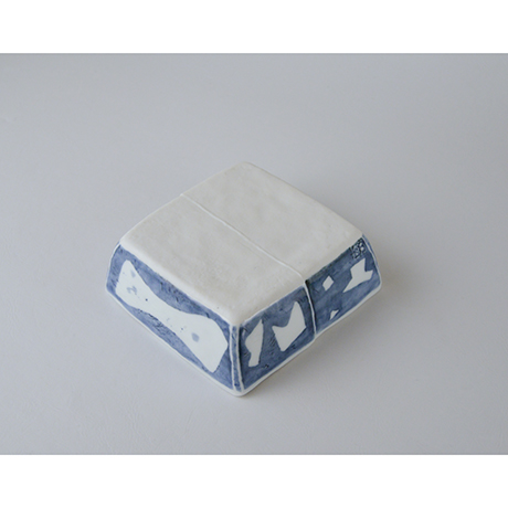「No.73-3 正角平小鉢 / Square bowl, Sometsuke」の写真 その3