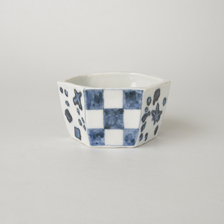 「No.81-1 六角小鉢 / Small bowl, Hexagonal shape, Sometsuke」の写真 その1