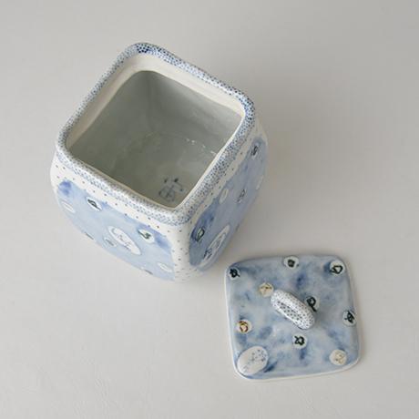 「No.9 四方蓋物 / Square container, Sometsuke」の写真 その4
