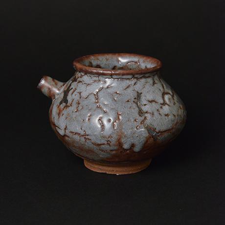 「No.14 鼠志野注壷 / Lipped vessel, Nezumi-shino」の写真 その1