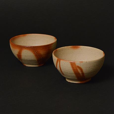 「No.21 備前火襷飯碗 小 / Small rice bowl, Bizen hidasuki」の写真 その1