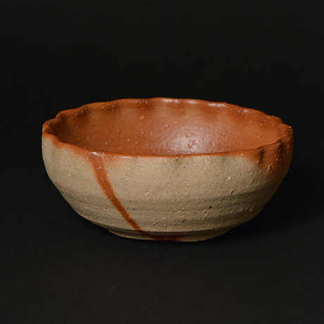 「No.50 備前火襷輪花鉢 / Bowl, Bizen hidasuki, Petal shape」の写真 その2