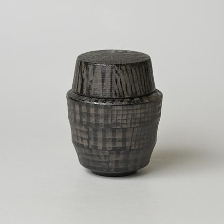 「No.12(図13) 色絵銀彩蓋物  / Covered vessel, Overglaze enamels and silver」の写真 その1