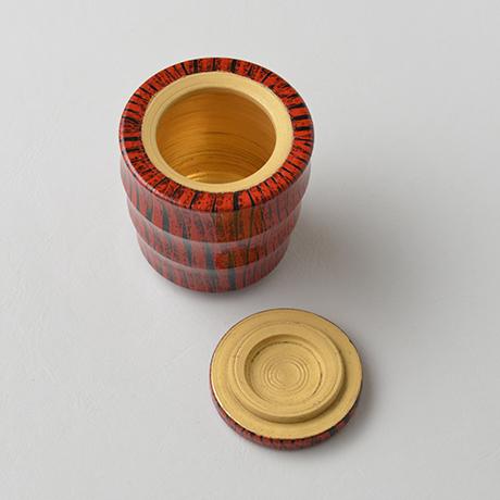 「No.13(図16) 色絵洋彩蓋物 / Covered vessel, Overglaze enamels」の写真 その4