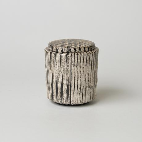 「No.14(図15) 色絵銀彩蓋物 / Covered vessel, Overglaze enamels and silver」の写真 その1