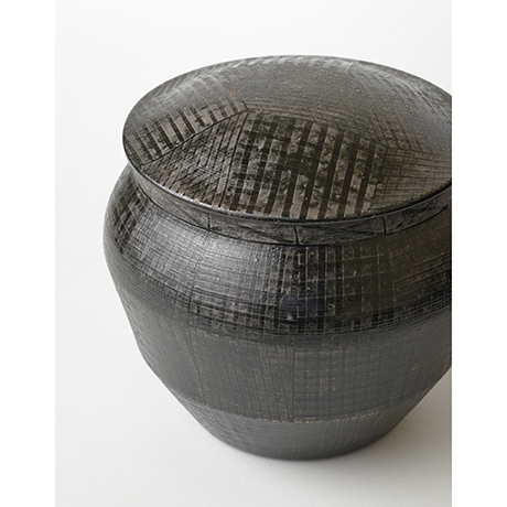 「No.21 色絵銀彩酒会壷 / Covered vessel, Overglaze enamels and silver」の写真 その6