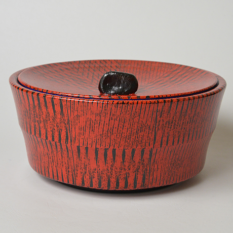 「No.45 色絵洋彩水指 / Water jar (Mizusashi), Overglaze enamels」の写真 その1