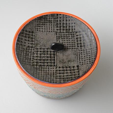 「No.47 色絵銀彩水指 / Water jar (Mizusashi), Overglaze enamels and silver」の写真 その3