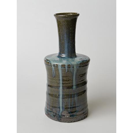 「No.67 石斑砧花入 / Flower vase, Ishi-madara (Stone ash glaze)」の写真 その1