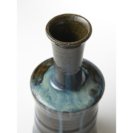 「No.67 石斑砧花入 / Flower vase, Ishi-madara (Stone ash glaze)」の写真 その3